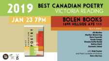 Best Canadian Poetry at Bolen Books @ Bolen Books | Victoria | British Columbia | Canada