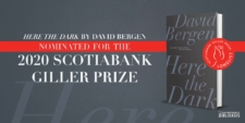 2020 Giller Prize nomination announcement featuring Here the Dark's book cover