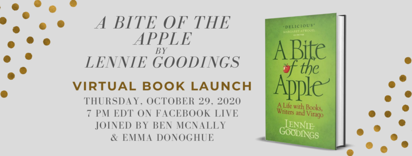 Event Poster with Lennie Goodings' A Bite Of the Apple Book Cover